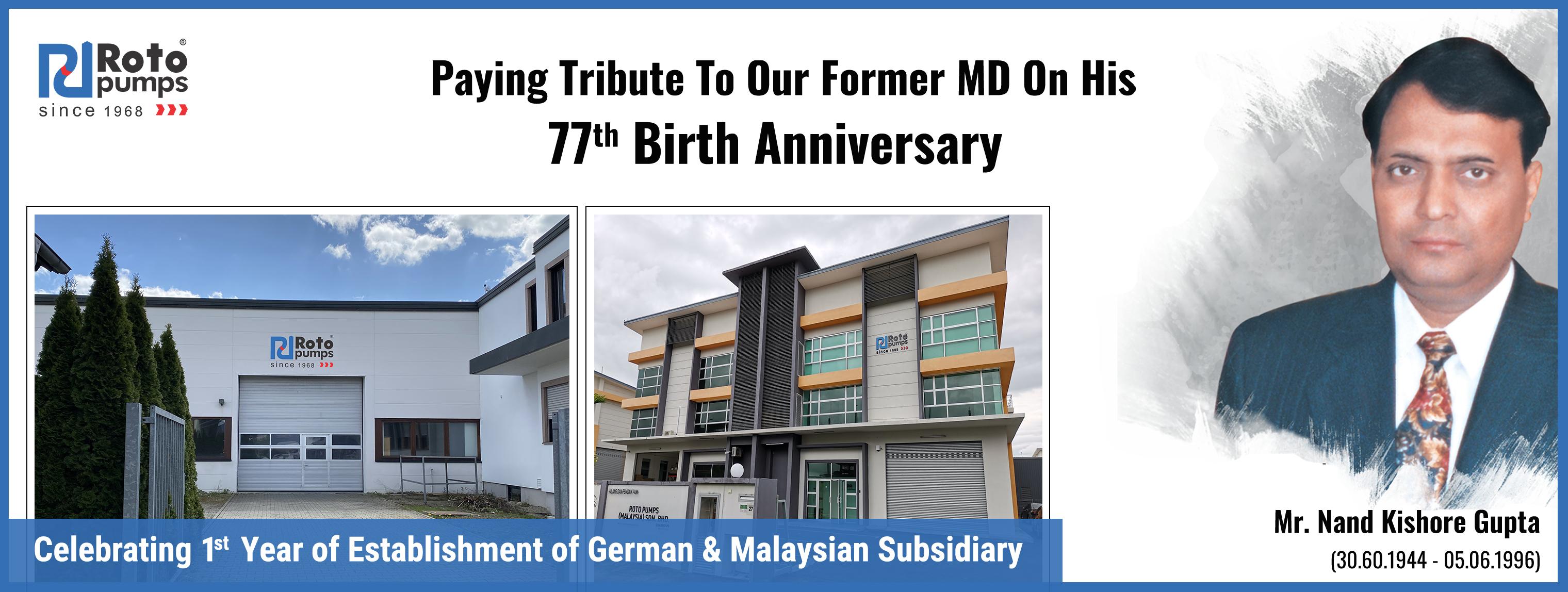 Former MD 77th Birthday